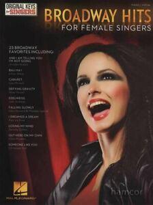 Constructif Broadways Hits For Female Singers Piano Vocal Sheet Music Book-afficher Le Titre D'origine