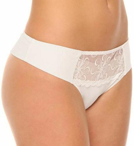 Simone Perele Revelation Tanga White Panty 8021 Size 3 EUR