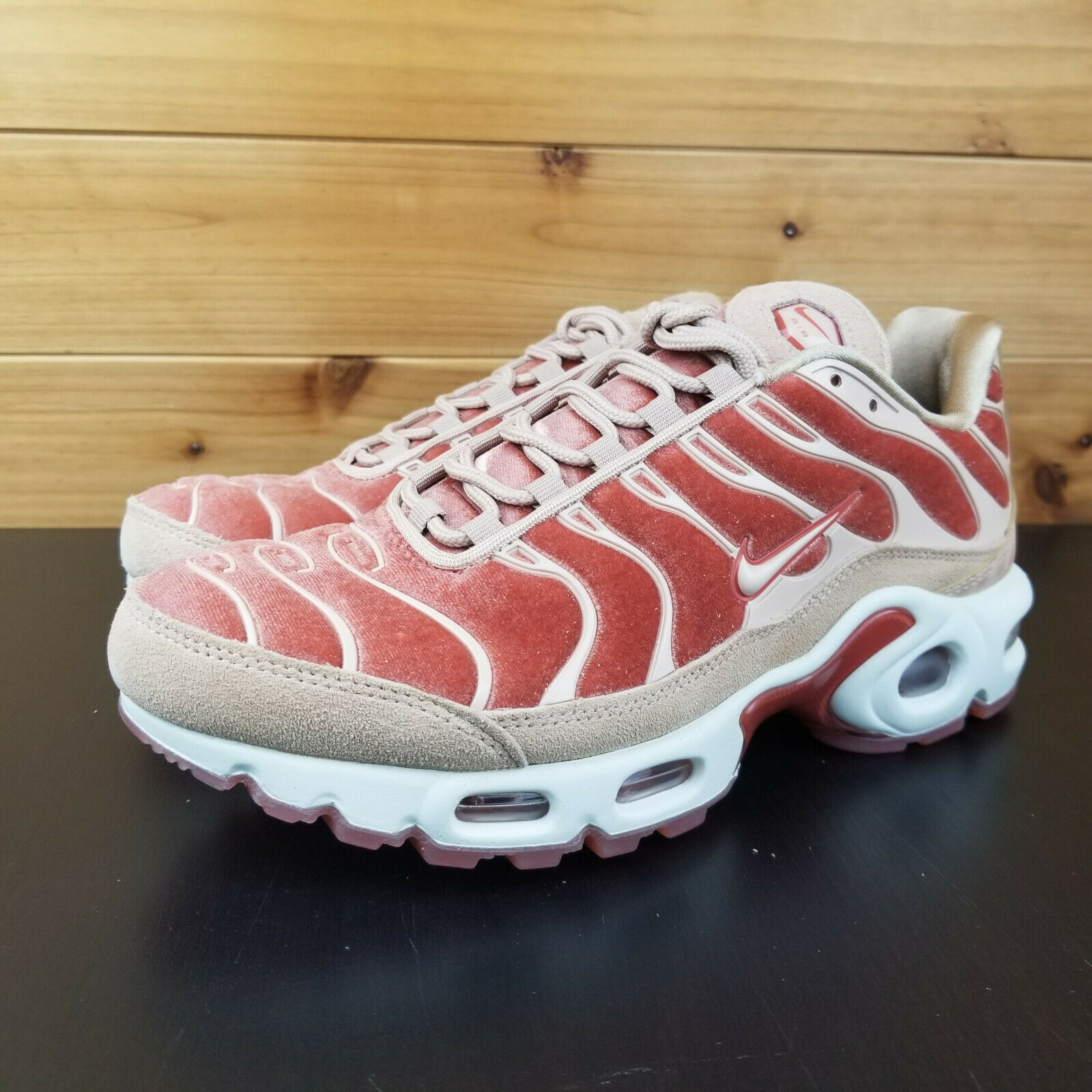 Nike Air Max Plus LX Women's shoes Velvet Dusty Peach Pink Beige AH6788-201