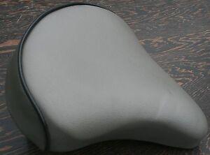 Grey Cool Comfort Bicycle Saddle    Vintage Schwinn Tank Bike Beach Cruiser Seat