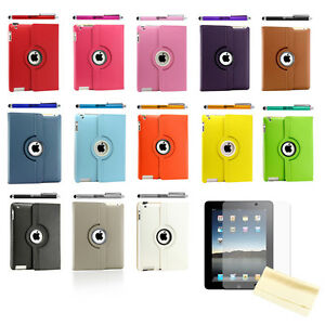iPad-2-360-Rotating-Magnetic-Leather-Case-Smart-Cover-Stand-Choose-from-12-Color