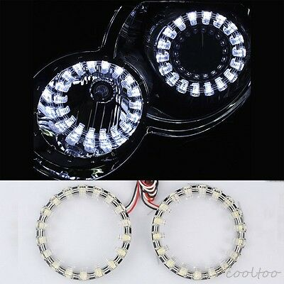 2X 100MM SMD LED Angel Eyes Halo ring light Daytime Running Light bulbs white