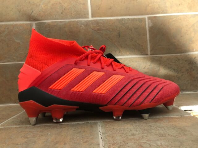 Adidas Predator 19.1 SG Active Red Soccer Shoes Solar Red Mens Size 7.5 D98054