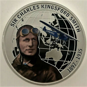 2010 $1 CHARLES KINGSFORD SMITH Silver Proof Coin