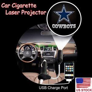 Dallas Cowboys Logo Car Cigarette Laser Projector