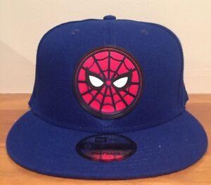 Marvel-Spider-Man-Face-Logo-Homecoming-Blue-New-Era-9Fifty-Snapback-Hat-Cap