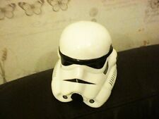 STAR WARS STORM TROOPER SHAPED WHITE MONEYBOX 12CM DIAMETER X 10CM HIGH STOPPER