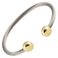 Magnetic Bracelet Golf High Power Magnets Pain Stainless Steel Wire Gold End