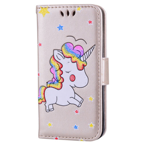 For iPod Touch 5//6th Gen Embossed Unicorn PU Leather Flip Wallet Card Case Cover