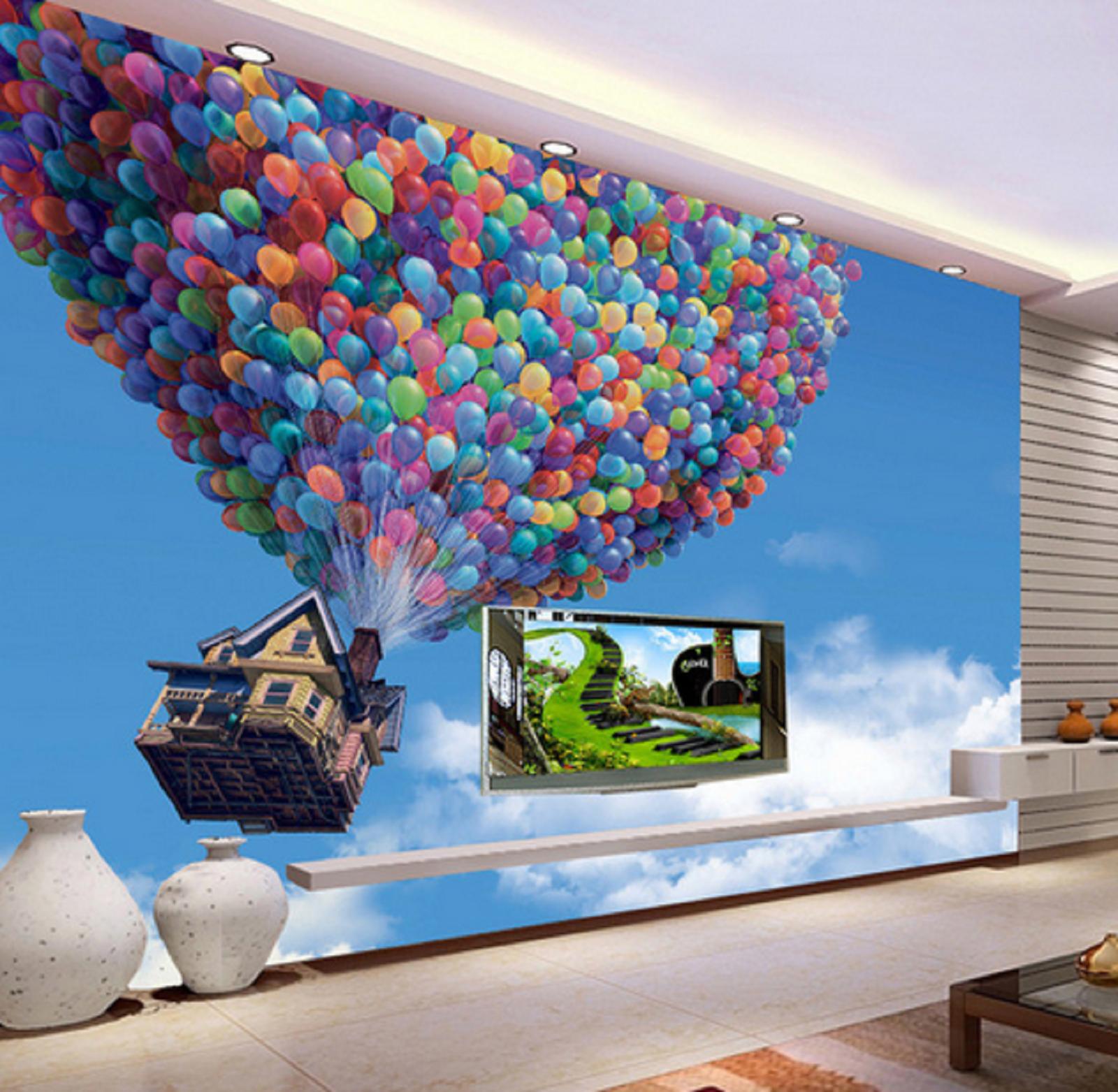 3D Himmel Ballon Hütte 45 Tapete Tapeten Mauer Foto Familie Tapete Wandgemälde