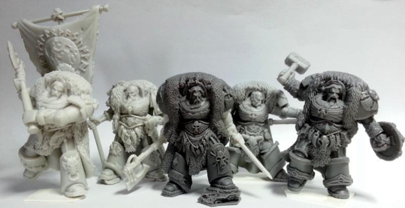 online barato Espacio Vikingos Conjunto de de de 5 Gran Lobo señores de Asgard. True Scale Guardia Marina  caliente