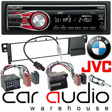 BMW 3 Series E46 98-05 JVC Car Stereo CD MP3 Radio Aux-In Player RED Display Kit