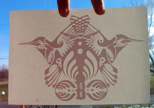 """Red DETAILED /""""Bassnectar Family Crest /"""" Vinyl Decal Sticker Truck Car Pc Wall"""