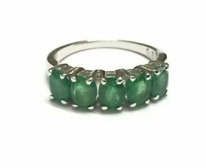 Sterling-Silver-4x5-mm-Emerald-Ring-Emerald-Band-4x5-mm-Oval-Emerald-Ring-Men