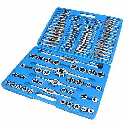 Professional 110Pcs Metric Tap and Die Set Kit with Split Dies Wrench /& Case uk