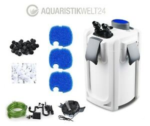 aquarium au enfilter hw 702 704a b uvc kl rer 400 1000l becken filtermaterial ebay. Black Bedroom Furniture Sets. Home Design Ideas