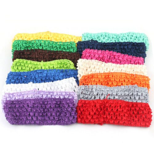 10x 1.5 in environ 3.81 cm Crochet Tube Top Tutu bande élastique à la taille bandeau cheveux bande Pip strass