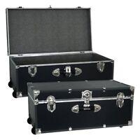 Locking Trunk With Wheels-, Black on sale