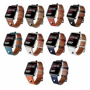 Genuine-Leather-Single-Tour-Watchband-iWatch-Strap-For-Apple-Watch-Series-4-3-2