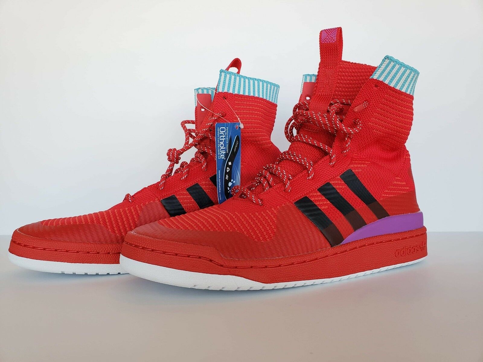 Adidas FORUM WINTER Prime knit Basketball shoes- Red- Mens size 11 BZ0645
