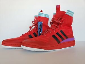 d3814e87d9789b Adidas FORUM WINTER Prime knit Basketball Shoes- Red- Mens size 11 ...