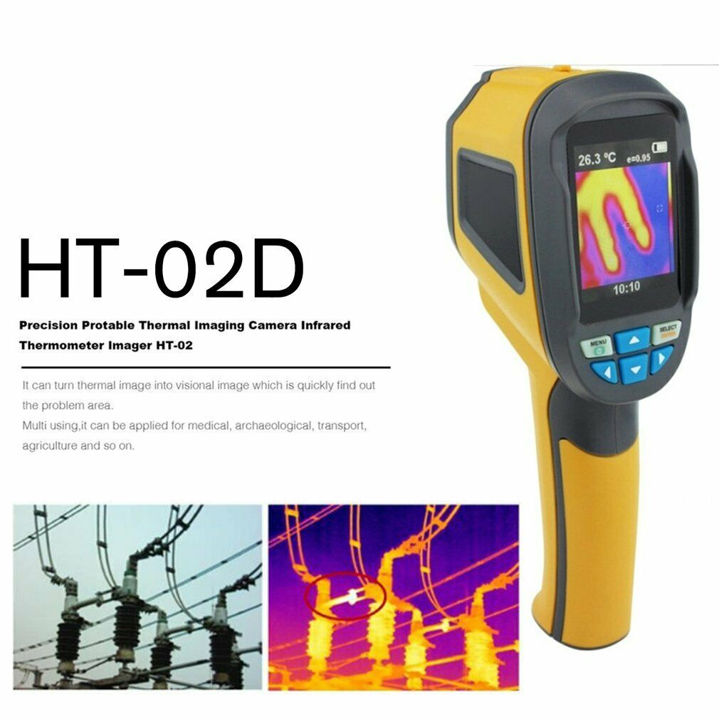 HT-02D Handheld Thermal Imaging Camera Imager IR Infrared Thermometer 20-300 ℃