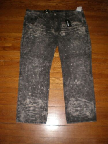NWT ROCAWEAR CLASSIC FIT FADED WASHED BLACKGREY JEANS SZ 48 X 32 RETAIL