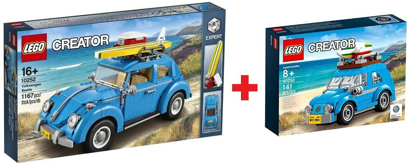 Lego ® Creator VW Colección 10252 VOLKSWAGEN BEETLE + 40252 Mini VW Beetle-Nuevo