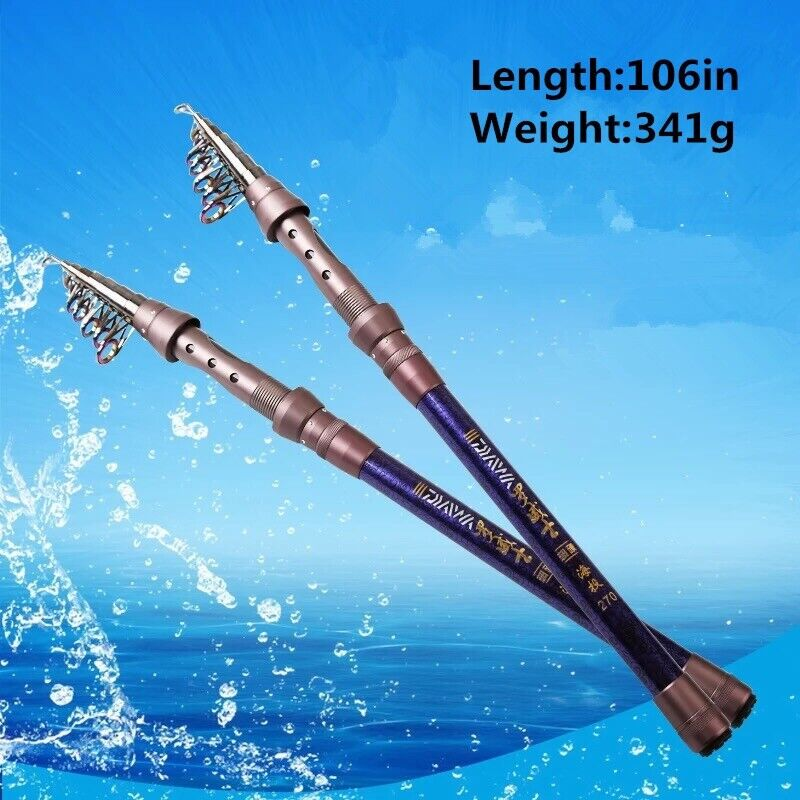 106  341g  Sea Fishing Pole High Quality Fiber Telescopic Rod  online at best price