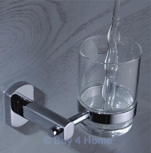 RD Brass /& Chrome Wall Mounted Glass Tumbler Bathroom Accessory 9571