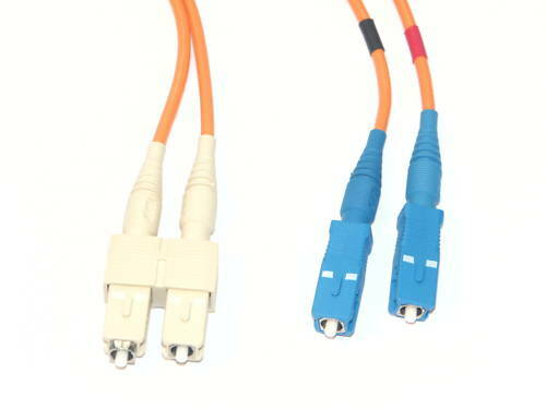 LWL Glasfaser Patchkabel 50/125 µm SC/SC 5 m Duplex Optical Fiber Cable (PC0030)
