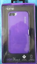 iHOME NEON PURPLE iPHONE 5 TRIPLE LAYER PROTECTION 2 PIECE CASE NEW in BOX