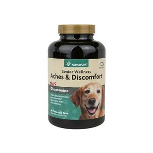 NaturVet ACHES DISCOMFORT with Glucosamine for Senior Dogs 60 Time Release Tab