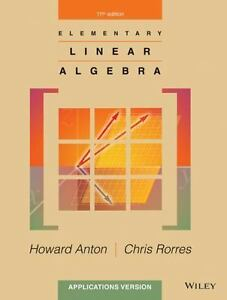 Details about Elementary Linear Algebra by Chris Rorres and Howard Anton  (2013, PDF Ebook)