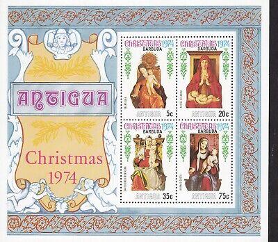 Angemessen Antigua & Barbuda, Block 12 Christmas, Weihnachten 1974, Madonna, Postfrisch Feine Verarbeitung
