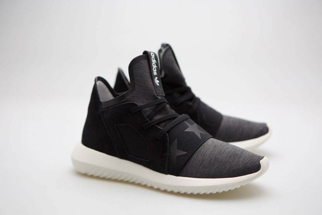 Adidas Women Tubular Defiant black core black off white S80291