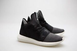 official photos 3269b f98d5 Image is loading Adidas-Women-Tubular-Defiant-black-core-black-off-