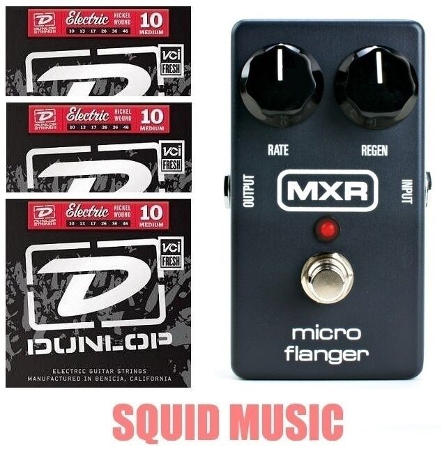 MXR Dunlop M-152 Micro Flanger Guitar Effects Pedal M152 ( 3 SET OF STRINGS )
