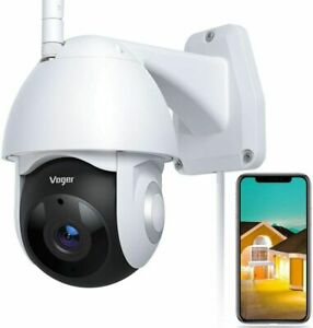 Security Camera Outdoor, Voger 360° View WiFi Home Security Camera System