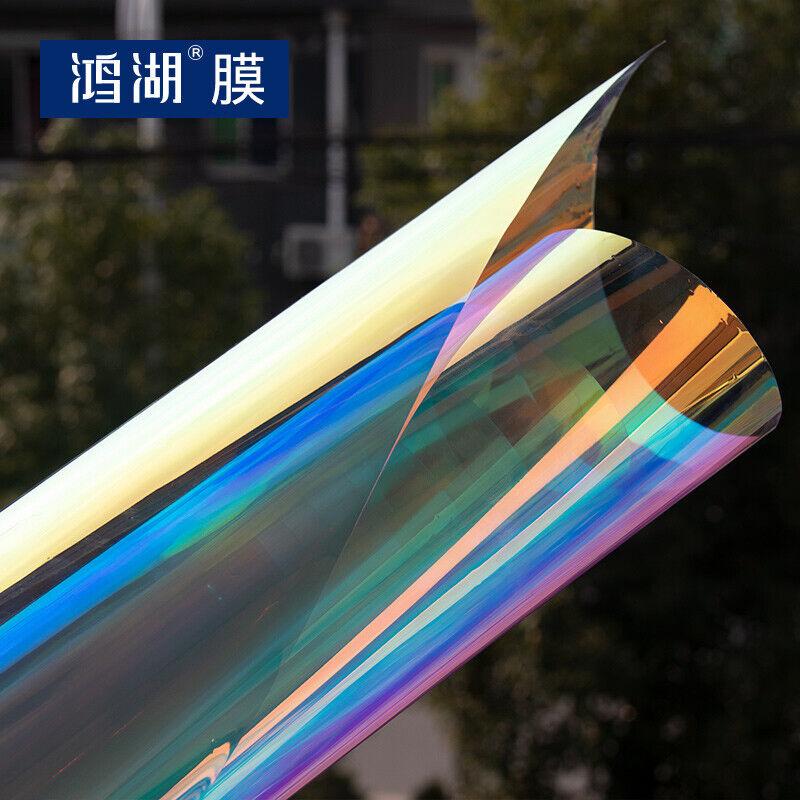 Rainbow Tintado Ventana Hoja Pegatina Película Película de la ventana para la decoración de hogar