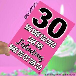 Dettagli Su 30 Biglietto Di Auguri Di Compleanno Divertente Spiritoso Banter Amico Colleghi