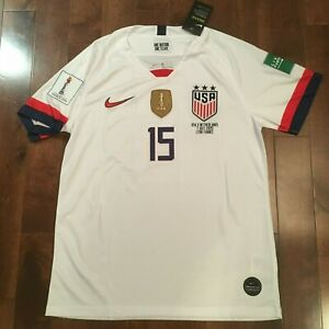 finest selection be2d1 90c06 Details about Nike 2019 World Cup FINALS USWNT #15 Megan Rapinoe MENS CUT  Jersey S - M - L - X