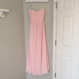 a53d423b0b669 Bari Jay Bridesmaid Dress Prom Dress Style 555 Blush Size 12 | eBay