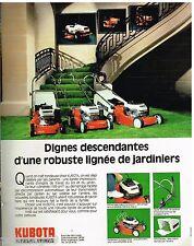 Publicité Advertising 1988 Les Tondeuses Kubota