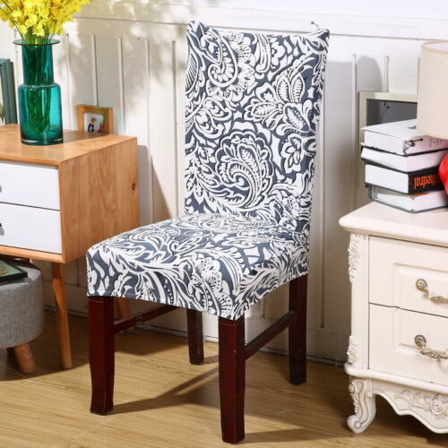 Stretch Spandex Dining Chair Covers Elastic for Wedding Banquet Decor Slipcovers