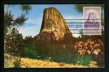 US FDC #1084 Maximum Card Postcard NIM Devils Tower National Monment 1956 WY