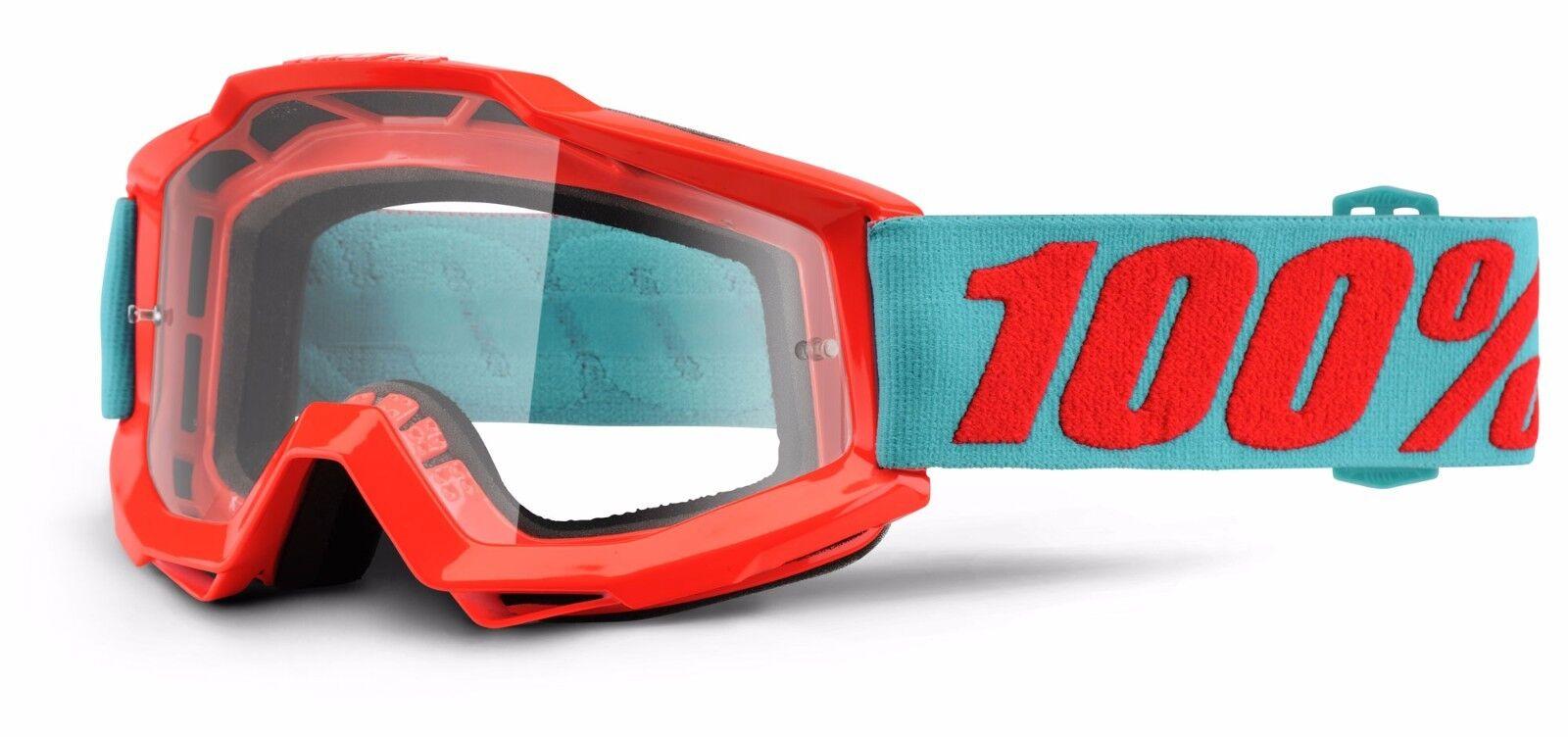 100% Accuri Occhiali-Tutti i colori-Clear Lens-MX Motocross Motocross Lens-MX MTB ENDURO TRAIL 83576b