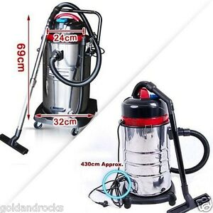 NEW-30L-STAINLESS-STEEL-BAGLESS-WET-DRY-VACUUM-CLEANER-VAC-COMMERCIAL-INDUSTRIAL