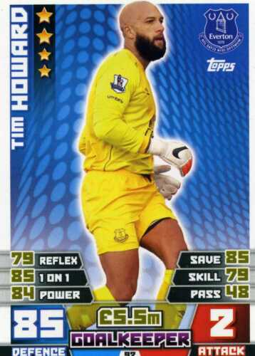 92-108 Match Attax 2014//15 Trading Cards everton-base
