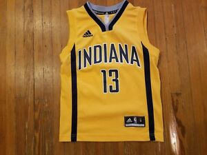 watch 34858 7cfd0 Details about Indiana Pacers Paul George Adidas NBA Gold Alternate Jersey  Boy's Size S